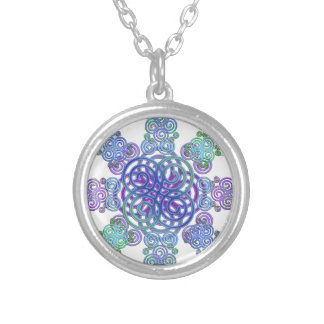 Decorative Celtic design. Silver Plated Necklace