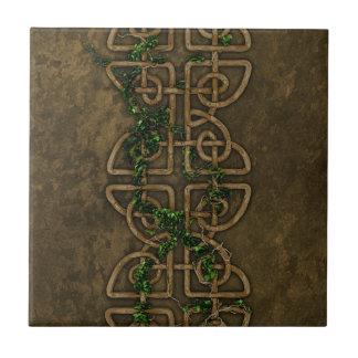 Decorative Celtic Knots With Ivy Tile