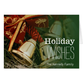 Decorative Christmas bells Greeting Card