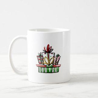 Decorative Christmas New Year Gift Box Coffee Mug