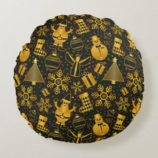 Decorative Christmas Pattern Round Pillow