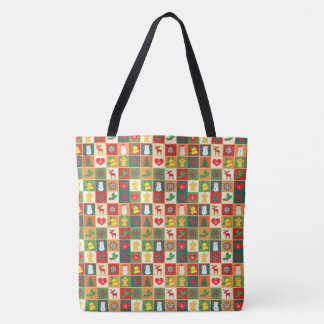Decorative Christmas Pattern Tote Bag