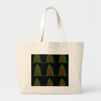 Decorative Christmas tree pattern Large Tote Bag