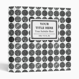 Decorative Circles - Black and White Binders