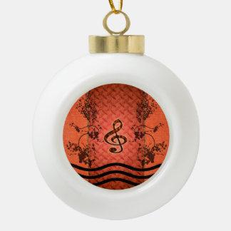 Decorative clef ceramic ball ornament