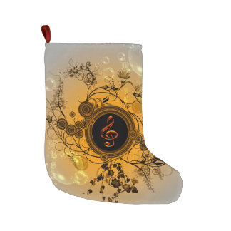 Decorative clef large christmas stocking