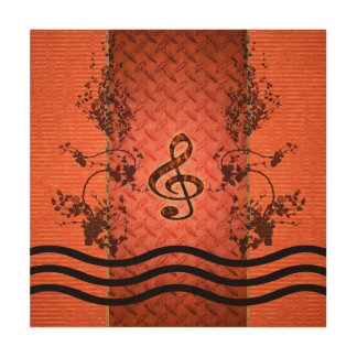 Decorative clef wood prints