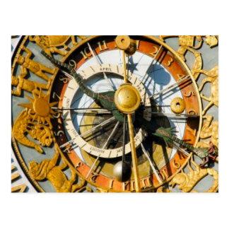 Decorative clock, Oslo City Hall Postcard