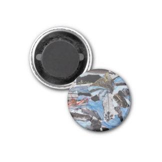 decorative collage magnet