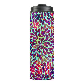 Decorative Colorful Damask Thermal Tumbler