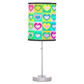 decorative colorful hearts,pop art table lamp