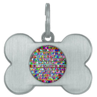 Decorative Colors Pet ID Tags