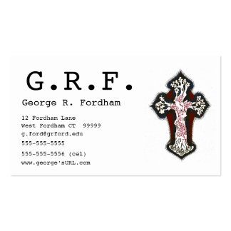 Decorative Cross Pack Of Standard Business Cards