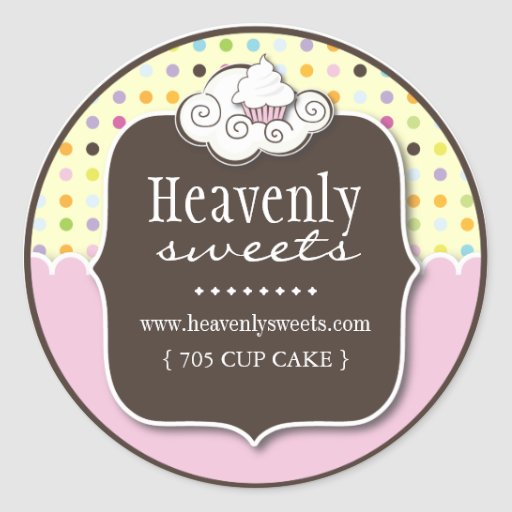 Decorative Cupcake |  Pastry Chef Stickers