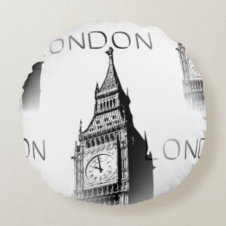 Decorative cushion round London Big Ben