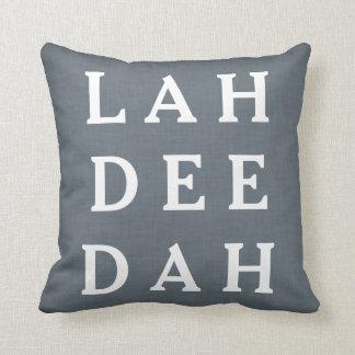 Decorative Custom Throw Pillow Gray Blue Linen