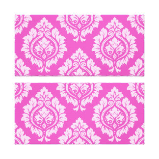 Decorative Damask Ptn – Light on Dark Pink Canvas Print