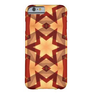 decorative deep red with geometric star barely there iPhone 6 case
