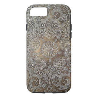 Decorative Design Flowers Metal iPhone 8/7 Case