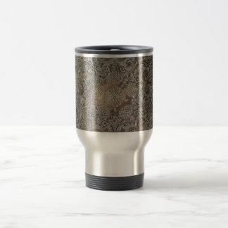 Decorative Design Flowers Metal Coffee Mugs
