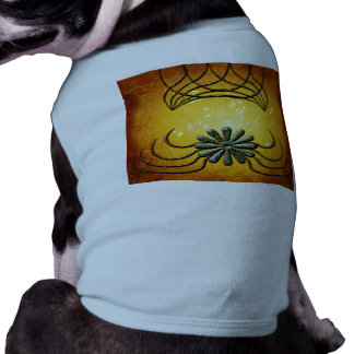 Decorative design with a flower pet tee