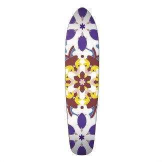 Decorative  designs in symmetrical patterns skate board deck