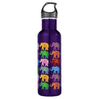 Decorative Elephants 710 Ml Water Bottle