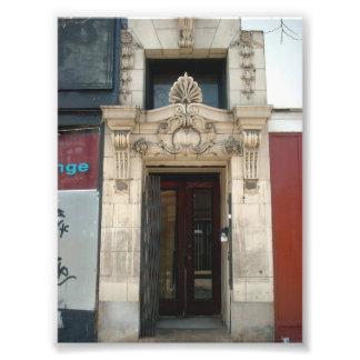 Decorative Facade on Old Building in Buffalo NY Photo Print