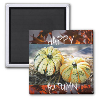 Decorative Fall Happy Autumn Refrigerator Magnet