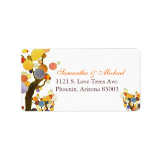 Decorative Fall Trees Wedding