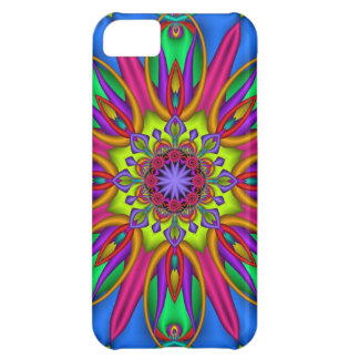 Decorative fantasy Flower kaleidoscope Cover For iPhone 5C