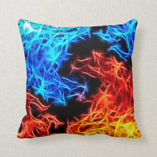 Decorative flames - good and evil beautiful pillow
