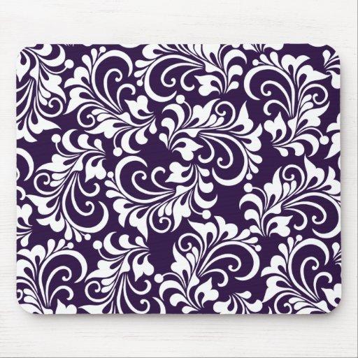 decorative floral background mouse pad