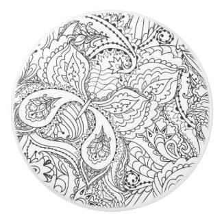 Decorative Floral Butterfly - multiple colors avai Ceramic Knob