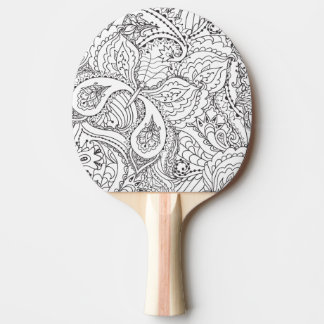 Decorative Floral Butterfly - multiple colors avai Ping Pong Paddle