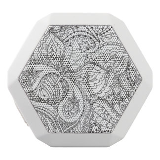 Decorative Floral Butterfly - multiple colors avai White Bluetooth Speaker
