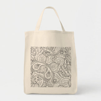 Decorative Floral Butterfly Tote Bag