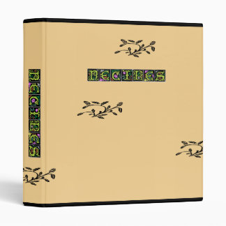 Decorative Floral Design Recipe Binder