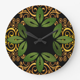 Decorative Floral Leaves Wall Clock