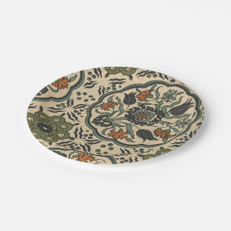 Decorative Floral Persian Tile Design Paper Plate