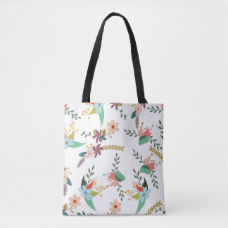 Decorative Floral Tote Bag