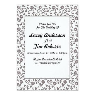 decorative floral Wedding Invitation
