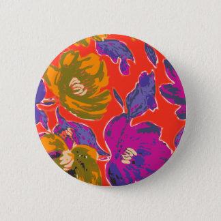 Decorative Florals 2 Inch Round Button