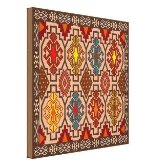 Decorative folk art canvas canvas print