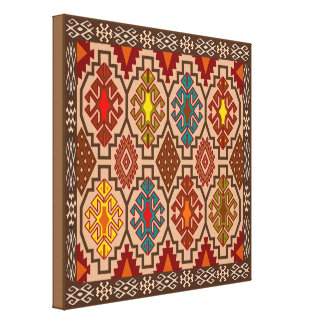 Decorative folk art canvas gallery wrapped canvas