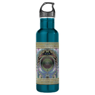Decorative Fractal 710 Ml Water Bottle