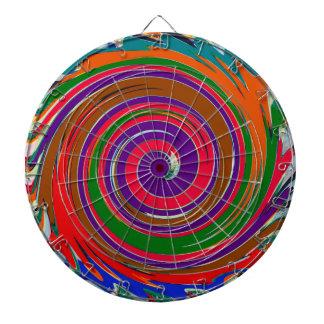 Decorative Fruity Twirl Wave Pattern Dartboard