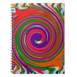 Decorative Fruity Twirl Wave Pattern Note Book