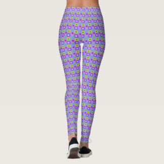 Decorative geometric pattern leggings