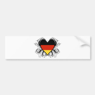 Decorative German Heart Bumper Sticker
